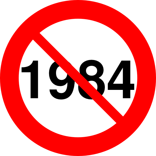 anti 1984 sign picture